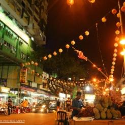 Durian Seller on Jalan Alor, KL