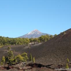 El Pico de Teide and the Chinyero Lava Fields