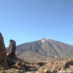 The Roque Cinchado and Teide