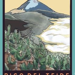 Golden Age of Travel in Tenerife Poster Design
